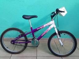 Bicicleta Infantil Aro 20 Cor Rosa Branca  E  Roxa