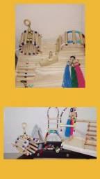 Brinquedos e acessórios para aves em geral