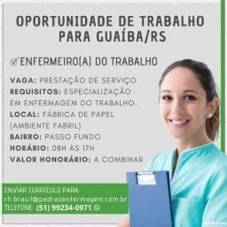 Enfermeiro(a) do Trabalho Guaíba