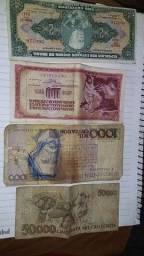 Notas antigas item de colecionadorí