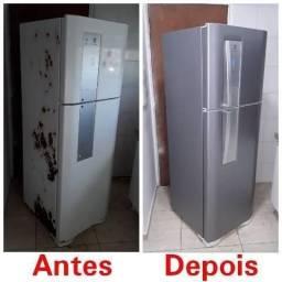 Adesivos e envelopamentos geladeiras.