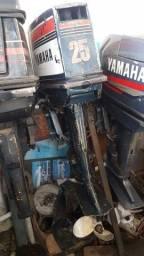 Motor yhamaha enduro 25 hp, revisado, Oportunidade ùnica