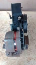 Alternador com suporte e bomba da direção hidráulica do monza 90/