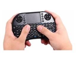 Teclado Mini Controle Sem Fio Smart TV PC - Novo