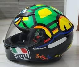 Capacete Agv Turtle Valentino Rossi novíssimo