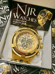 Relógio Invicta bolt zeus skeleton preto novo