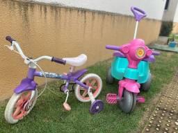 Carrinho e Bicicleta