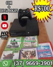 Xbox 360 Com 62 jogos+1 controle e DESBLOQUEADO
