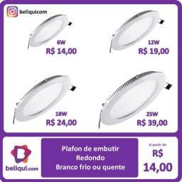 Título do anúncio: Painel LED Plafon | Embutir | Redondo | Branco Frio | Diversas potências e tamanhos
