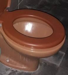 Bacia sanitária usada- Marron- Celite