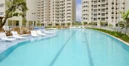 Alugo apartamento 3 quartos semi-mobiliado em Condomínio Clube