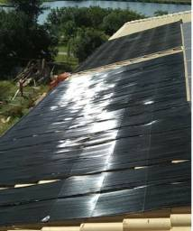 Placas aquecimento solar piscina 21.000 litros