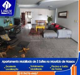 Alugo Apartamento mobiliado de 04 quartos (03 suítes), em Caruaru/PE
