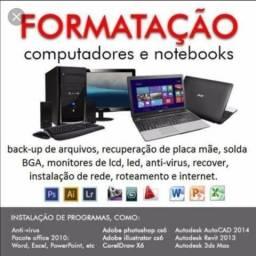 Formatação de Computadores, Notebook e Celulares