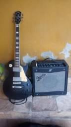 Guitarra Strinberg + caixa Fender