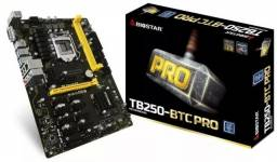 Placa Mãe Biostar Tb250- Btc Pro 12 Pci-e + Proc e Memória
