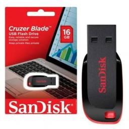 Pen Drive Sandisk 16GB Cruzer Blade Lacrado Original comprar usado  Belo Horizonte