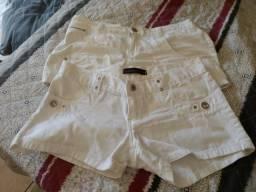 2 shorts Branco por 60,00