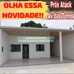 Casa 2 dormitórios / poço artesiano próx Atack Av das Torres
