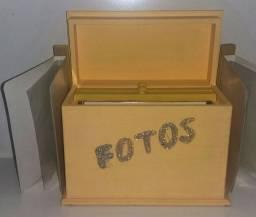 Caixa decorativa com álbum de fotos