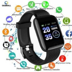 Relógio  smartwatch preto, roxo