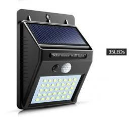 Luminária Solar Parede 35 Led Sensor Movimento Externa 7w