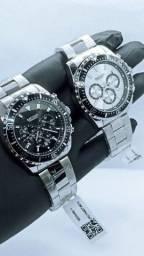 Relógio Megir De Luxo Série Prata