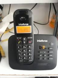 Telefone sem fio Intelbras, com secretaria eletrônica e viva voz!