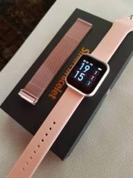 Smart Watch Relógio Inteligente T80 Ip67 Com Pulseira Extra