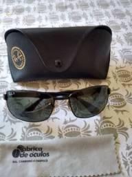 Óculos Ray Ban Original+Par Lentes Extra (ACEITO CARTÃO)