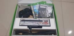 Xbox One Fat, com kinect e controle com adaptador p2 + jogos