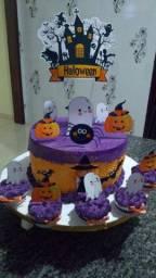 Vendo bolo Halloween