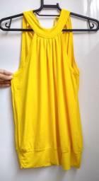 Blusa Amarela Primavera-Verão Nunca Usada