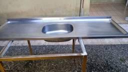 Pia grande de inox 1,60m