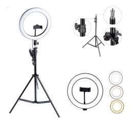 Ring Light Profissional Completo 11 Polegadas 26cm + Tripé 2m - Loja Natan Abreu