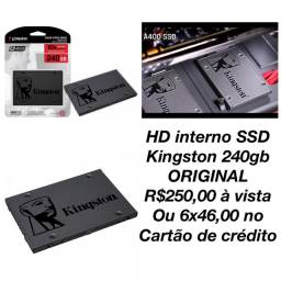 HD SSD interno Kingston 240gb ORIGINAL novo lacrado na caixa