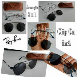 Armação RAYBAN Clip On (imã) 2 em 1