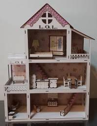 Casa de Boneca Lol Surprise Série Mobiliada Madeira Mdf
