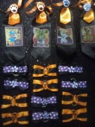 Kit Laços e Gravatinhas Pet Halloween: 20 Unidades