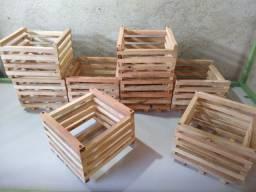 Cachepot de madeira