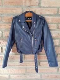 Jaqueta de couro sintético Azul