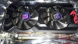 Placa de vídeo rx 570 4gb red dragon power color
