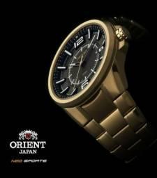 Relógio Orient Original Novo Banhado a Ouro Lojista Autorizado