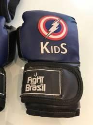Luva e caneleira de box infantil