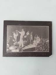 Antigo quadro com estampa da Fábrica De Vidros Porto Alegre 1922
