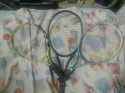 3 Raquetes para tênis de quadra