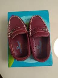 Sapato infantil masculino em couro legítimo
