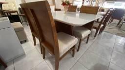 Mesa de jantar nova 4 cadeiras de madeira maciça