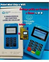 Título do anúncio: Máquina de cartão com chip e Wifi - Point Mini Chip  - Entrega grátis em Teresina !