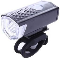 Lanterna Luz Recarregável USB Para Bicicleta Com 3 Modos de Luz A Prova D'Água
